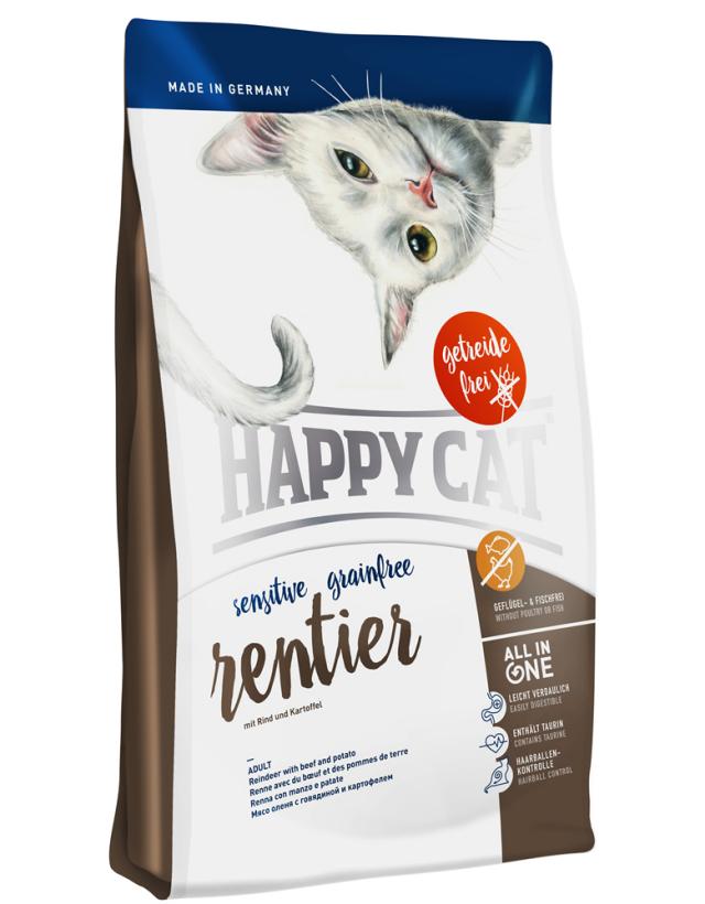 HAPPY CAT グレインフリー レンティア(トナカイ&ビーフ)穀物不使用 - 300g