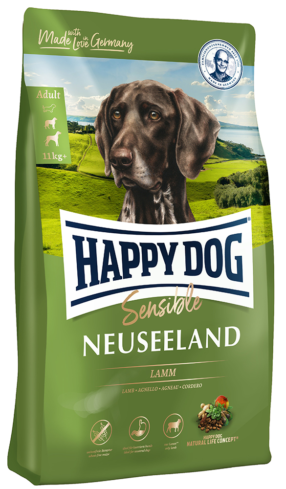 HAPPY DOG ニュージーランド(ラム&ライス)消化器ケア - 1kg