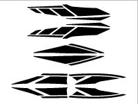 新シグナスx用ストロボステッカー8 単色