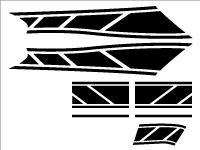 グランドアクシス100用 ストロボステッカー2 単色