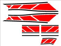 グランドアクシス100用 ストロボステッカー2 二色