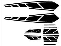 BW'S125用 ストロボステッカー1 単色
