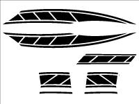 旧シグナスx用 ストロボステッカー1
