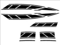 新シグナスx用ストロボステッカー7 単色