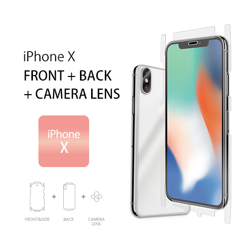 iPhone X FRONT + BACK +  CAMERA LENS iPhone X