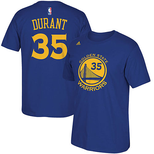NBA ケビン・デュラント Tシャツ(ブルー)ウォリアーズ adidas Golden State Warriors Kevin Durant Game Time T-Shirt