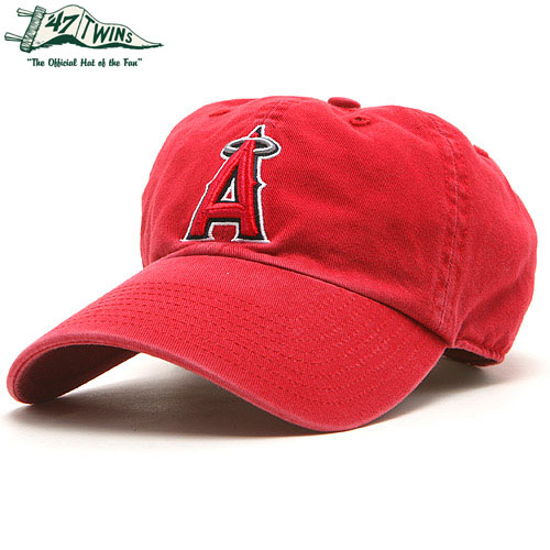 MLB エンゼルス レッドクリンナップキャップ(ジュニア) Los Angeles Angels of Anaheim Red Clean Up Youth Cap