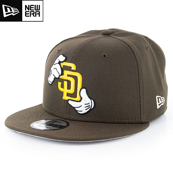 MLB 9Fiftyキャップ X Mickey Hands パドレス New Era San Diego Padres Brown X Mickey Hands 9Fifty Snapback Cap