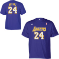NBA コービー・ブライアント Tシャツ(パープル) adidas Los Angeles Lakers Kobe Bryant Game Time T-Shirt
