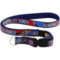 NBA チーム ネックストラップ サンダー Oklahoma City Thunder Red-Royal Blue Lanyard
