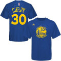 NBA ステフォン・カリー Tシャツ(ブルー)ウォリアーズ adidas Golden State Warriors Stephon Curry Blue Game Time T-Shirt