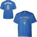 NBA ラッセル・ウエストブルック Tシャツ(ブルー)サンダー adidas Oklahoma City Thunder Russell Westbrook Blue Game Time T-Shirt