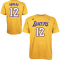 NBA ドワイト・ハワード Tシャツ(ゴールド)レイカーズ adidas Los Angeles Lakers Dwight Howard Gold Game Time T-Shirt