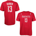 NBA ジェイムス・ハーデン Tシャツ(レッド)ロケッツ adidas Houston Rockets James Harden Game Time T-Shirt