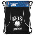 NBA チームロゴ バックサック ネッツ Brooklyn Nets Black Axis Backsack