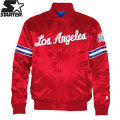 NBA スターター サテンジャケット クリッパーズ(レッド) Starter Los Angeles Clippers Satin Jacket - Red