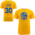 NBA ステフォン・カリー Tシャツ(ゴールド)ウォリアーズ adidas Golden State Warriors Stephon Curry Gold Game Time T-Shirt