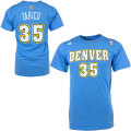 NBA ケネス・ファリード Tシャツ(ライトブルー)ナゲッツ adidas Denver Nuggets Kenneth Faried Light Blue Game Time T-Shirt