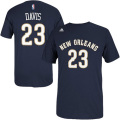 NBA アンソニー・デイビス Tシャツ(ネイビー)ペリカンズ adidas New Orleans Pelicans Anthony Davis Navy Blue Game Time T-Shirt