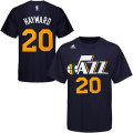 NBA ゴードン・ヘイウッド Tシャツ(ネイビー)ジャズ adidas Utah Jazz Gordon Hayward Navy Blue Game Time T-Shirt
