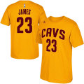NBA レブロン・ジェームズ Tシャツ(ゴールド)キャバリアーズ adidas Cleveland Cavaliers LeBron James Gold Game Time T-Shirt