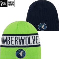 NBA リバーシブル ニットキャップ ティンバーウルブズ New Era Minnesota Timberwolves Green/Navy Reverse Knit Beanie