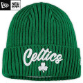 NBA On The Court ニットキャップ セルティックス(グリーン) New Era Boston Celtics Kelly Green Draft On The Court Cuffed Knit Cap