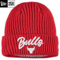 NBA On The Court ニットキャップ ブルズ(レッド) New Era Chicago Bulls Red Draft On The Court Cuffed Knit Cap