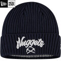 NBA On The Court ニットキャップ ナゲッツ(ネイビー) New Era Denver Nuggets Navy Draft On The Court Cuffed Knit Cap