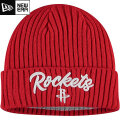 NBA On The Court ニットキャップ ロケッツ(レッド) New Era Houston Rockets Red Draft On The Court Cuffed Knit Cap