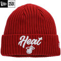 NBA On The Court ニットキャップ ヒート(レッド) New Era Miami Heat Red Draft On The Court Cuffed Knit Cap