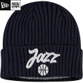 NBA On The Court ニットキャップ ジャズ(ネイビー) New Era Utah Jazz Navy Draft On The Court Cuffed Knit Cap