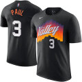 NBA クリス・ポール ネーム&ナンバーTシャツ サンズ(Cityブラック) Nike Chris Paul Phoenix Suns Black Name & Number City T-Shirt