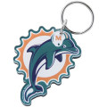 NFL チームロゴ アクリル キーチェーン ドルフィンズ Miami Dolphins High Definition Logo Keychain