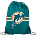NFL チームロゴ バックパック ドルフィンズ Miami Dolphins Aqua Team Logo Drawstring Backpack