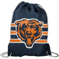 NFL チームロゴ バックパック ベアーズ Chicago Bears Navy Blue Team Logo Drawstring Backpack