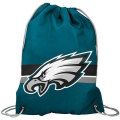 NFL チームロゴ バックパック イーグルス Philadelphia Eagles Green Team Logo Drawstring Backpack