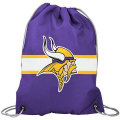 NFL チームロゴ バックパック バイキングス Minnesota Vikings Purple Team Logo Drawstring Backpack