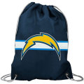 NFL チームロゴ バックパック チャージャース San Diego Chargers Navy Blue Team Logo Drawstring Backpack