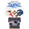 NFL第39回スーパーボウル記念ピン(2005) Super Bowl XXXIX Commemorative Pin