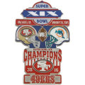 NFL第19回スーパーボウル記念ピン(1985) Super Bowl XIX Commemorative Pin