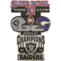 NFL第11回スーパーボウル記念ピン(1977) Super Bowl XI Commemorative Pin