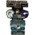 NFL第8回スーパーボウル記念ピン(1974) Super Bowl VIII Commemorative Pin