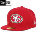 NFL 59FIFTY サイドラインキャップ フォーティナイナーズ(スカーレット) New Era San Francisco 49ers 59FIFTY Sideline Cap - Scarlet
