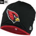 NFL サイドライン Tech ニットキャップ カーディナルス New Era Arizona Cardinals Sideline Tech Knit Cap - Black/Cardinal
