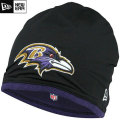 NFL サイドライン Tech ニットキャップ レイブンズ New Era Baltimore Ravens Sideline Tech Knit Cap - Black/Purple