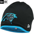 NFL サイドライン Tech ニットキャップ パンサーズ New Era Carolina Panthers Sideline Tech Knit Cap - Black/Panther Blue