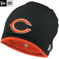 NFL サイドライン Tech ニットキャップ ベアーズ New Era Chicago Bears Sideline Tech Knit Cap - Black/Orange