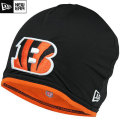 NFL サイドライン Tech ニットキャップ ベンガルズ New Era Cincinnati Bengals Sideline Tech Knit Cap - Black/Orange