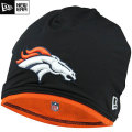 NFL サイドライン Tech ニットキャップ ブロンコス New Era Denver Broncos Sideline Tech Knit Cap - Black Orange